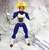 WIJJZY Dragonball Super Figure Super Saiyan Vegeta Azul PVC Figura de acción Modelo Figurales Modelo...