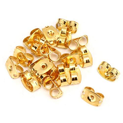 Earnuts de metal Tuercas para postes de oreja 160pcs Earnuts no tóxicos, para joyería, para evitar que los pendientes se resbalen