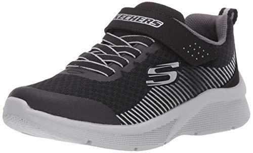 Skechers Kids Boys' MICROSPEC-GORZA Sneaker, Black/Grey, 8...