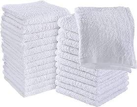 Utopia Towels Cotton Washcloths, 24 - Pack, White