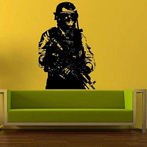 Wall Stickers Sale Home Decoration Accessories Soldier Wall Sticker Sniper Army Man Vinyl Decal Room Decor Art Mural Modern Design 58X88Cm