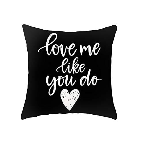 Fundas de almohada para el día de San Valentín, 45,7 x 45,7 cm, fundas de almohada para día de San Valentín, fundas de almohada para día de San Valentín