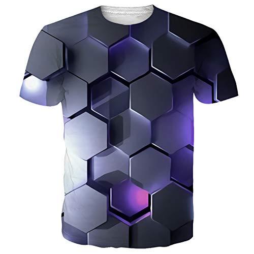 NEWISTAR Unisex Jugend 3D Druck Grafik Casual Kurzarm T-Shirt , Sand1, XXL