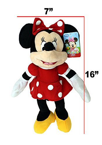 "Disney Mickey Mouse Clubhouse Plush 17"" Minnie Red Dress 3"
