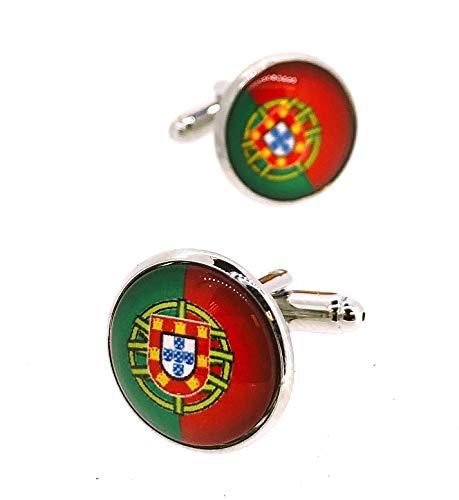 Gemelolandia   Gemelos para Camisa Bandera de Portugal Redonda III Gemelos Originales Para Camisas   Para Hombres y Niños   Regalos Para Bodas, Comuniones, Bautizos y Otros Eventos
