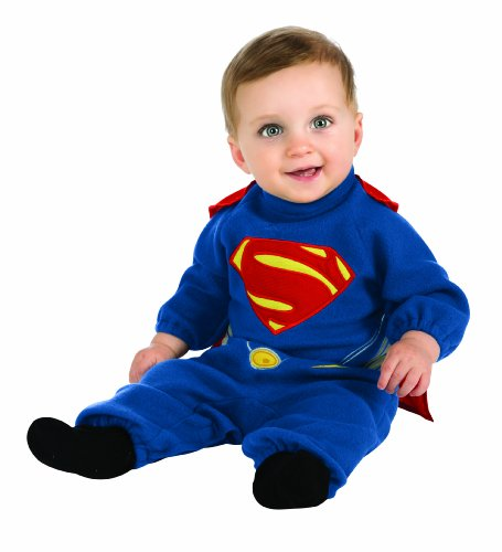 Disfraz de Superman Hombre de Acero con capa desmontable para beb - 6-12 meses
