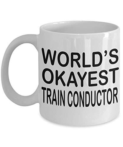 N\A Divertido Conductor de Tren Taza de café Mejor Conductor de Tren del Mundo Conductor de Tren Regalo Regalos para Conductor de Tren Hombres Mujeres
