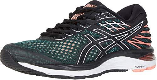 ASICS Gel-Cumulus 21 Women's Running Shoe, Black/Sun Coral, 7 M US