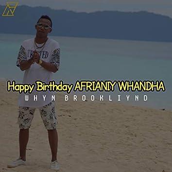 Happy Birthday Afrianiy Whandha