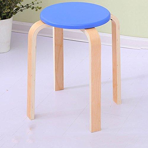 LJHA Tabouret pliable Tabouret en bois massif Chaise haute banc 9 couleurs en option Le nombre de facultatif48cm chaise patchwork (Couleur : H, taille : # 2)