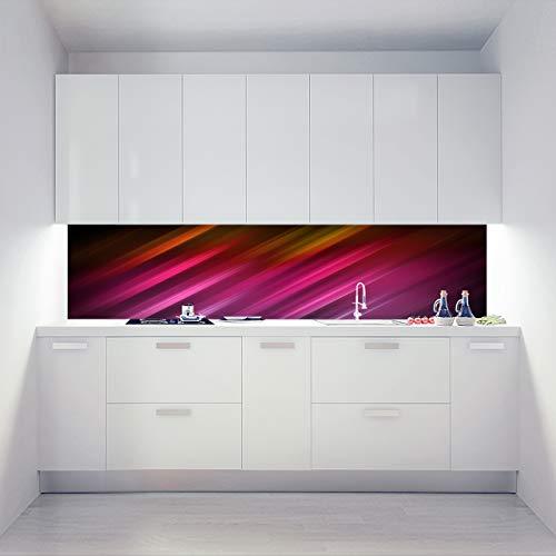 Küchenrückwand Alu Verbundplatten als Einzelplatte oder Plattenset für Eck und U-Form Küchen Zuschnitt auf Maß - Motiv Pink Zebra