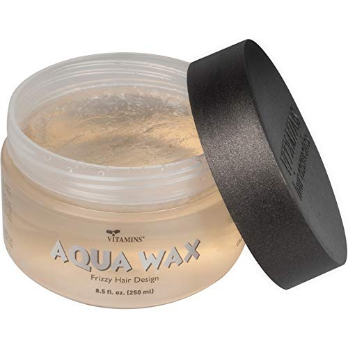 Vitamins Aqua Hair Wax Styling Gel - Anti Frizz Water Based Non Greasy Strong Hold Pomade Hair Defining Gloss Gel for All Hair Types
