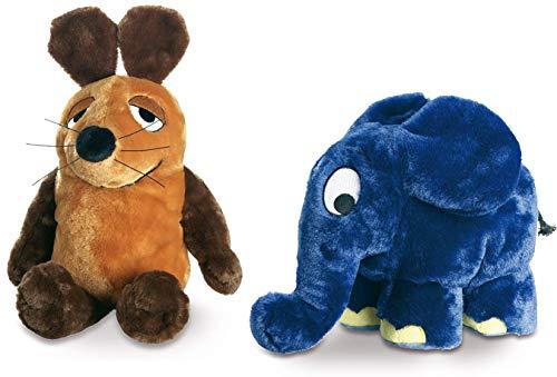 Die Sendung mit der Maus - Plüschtiere Maus (25 cm) und Elefant (17x19 cm) - Schmidt Spiele 42188/42189 im Set - Deutsche Originalware