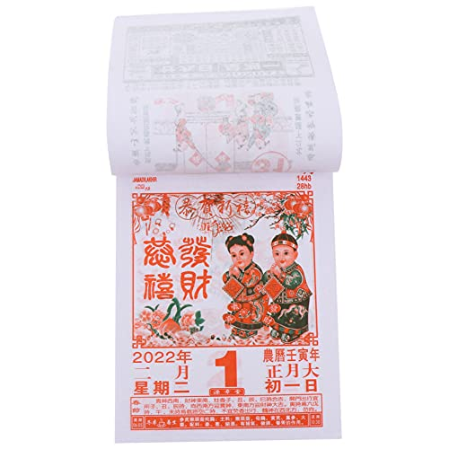 2022 Chinese Calendar Year of The Tiger Calendar 5pcs Lunar Daily Calendar 365 Pages Annual Wall Desk Calendar Planner Schedule Notepad for Home Office