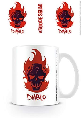 Suicide Squad Kaffeebecher Diablo Skull weiß