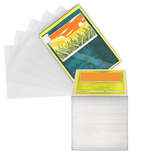 Sooez Ultra Thick Trading Card Sleeves Protectors, Back-Matte Board Game Card Sleeves, Soft Card Sleeves for Standard Cards Pokemon Cards Baseball Card Basketball Card Sports Cards, Clear, 240PCS