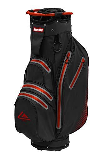 LONGRIDGE - Bolsa Impermeable para Carrito, Color Negro y Rojo, Talla única