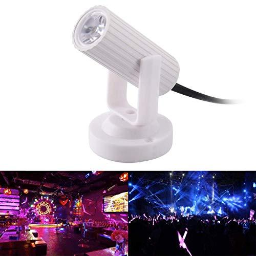 Wallfire Focos LED para Escenario, 1W Mini Techo de LED Downlights Atmósfera Bombilla para el Festival de Navidad Salas de Baile Fiesta Decoración de Boda (Color : White Shell White Light)
