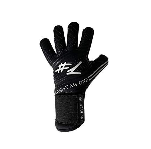 #1 Hashtagone Endboss Black Torwarthandschuhe für Erwachsene & Kinder - Größe 6 - entwickelt vom Torwart Bundesliga Profi - Tormannhandschuhe Herren, Kinder (6 Endboss Black)