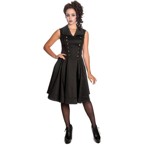 Spin Doctor Kleid NASTASYA Dress Black Schwarz L