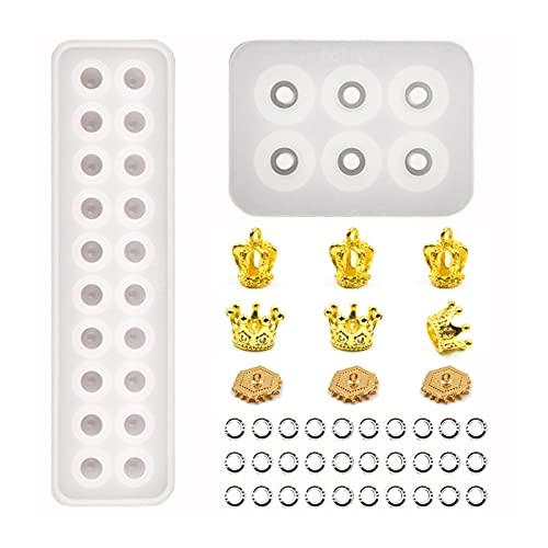 Vigcebit 1 Formulario de Resina Conjunto de moldes de Pulsera de moldes para Pulsera de Silicona para decoración artesanía joyería Colgante Collar