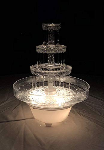 Crafts Central 13' Inch Lighted Plastic Water Fountain for Weddings or Cake Centerpiece