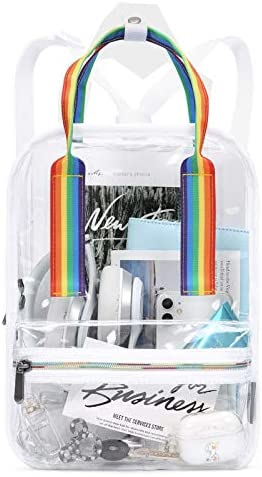 mommore Mini Stadium Approved Clear Backpack Durable See Through Bookbags for Security Sport product image