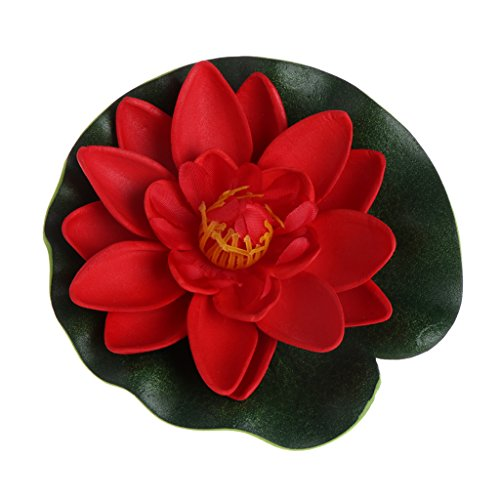 JAGENIE Fleurs artificielles : nénuphar/lotus flottant pour étang ou aquarium