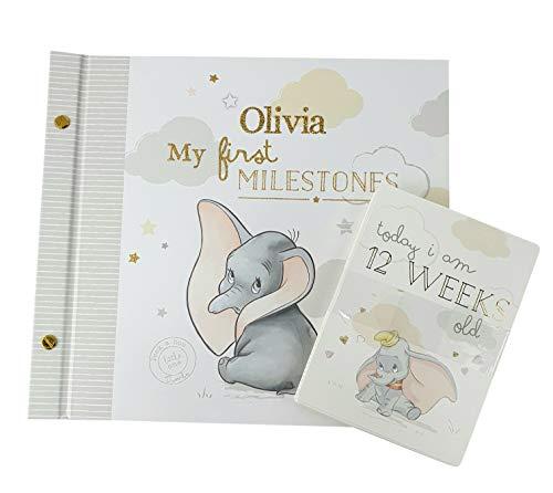 Personalised Dumbo Disney Magical Beginnings Album & Milestone Card Set - Dumbo Gift