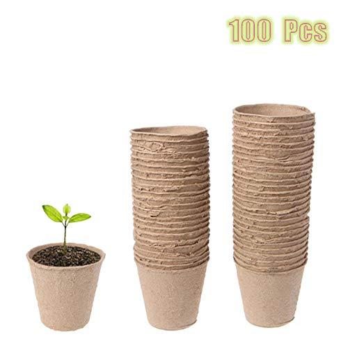 Seed Starter Torba Pentole Kit Per Giardino Di Piantine Di Semenzaio 100% Eco-Friendly Germinazione Organica Piantina Vassoi Biodegradabile Pacco Di 100