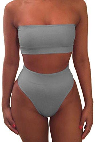 Viottiset - Bikini sin tirantes mujer Gris gris L
