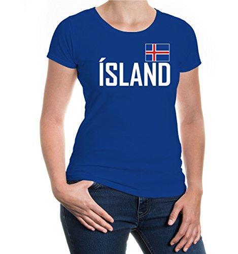 Girlie T-Shirt Island-M-Royal- Royal