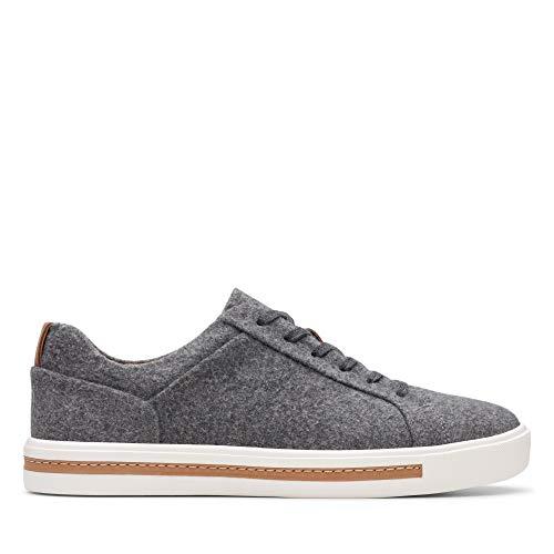 Clarks Damen Un Maui Lace Sneaker, Grau (Grey Textile Grey Textile), 40 EU