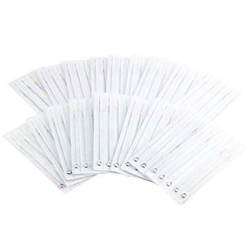 YILONG 200pcs Assorted Mixed Size Tattoo Needles Set (100Pc Liner and 100 Shader) 25Pc-3RL, 50Pc - 5RL, 25Pc-7RL, 25Pc-5RS, 25Pc-7RS, 25Pc - 9RS, 10Pc-5M1, 15Pc- 7M1 for Tattoo