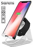 FOGEEK Universal Aluminium Kombi-Dockingstation zum Aufladen, geeignet für Smartphone, Tablet &...