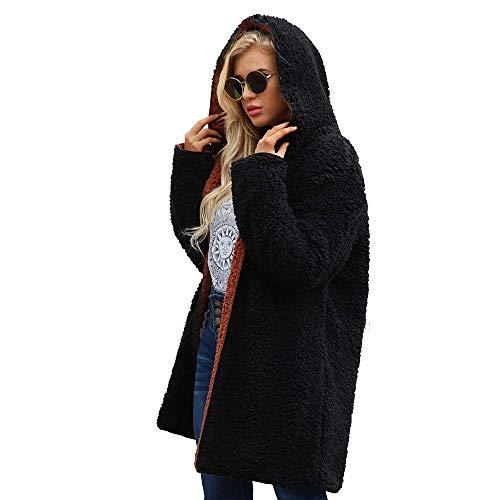 Adelina wintermantel wollen mantel warme kunstzinnige wol jacks met capuchon vrouwen oversized mode completi winterjas overgangsjas wintermode teddy fleece jack lange fleece mantel