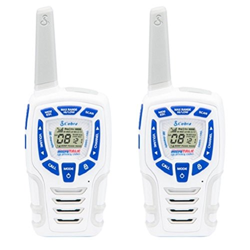 Cobra Electronics AM 845 SN - Walkie Talkie Resistente al Clima con Linterna LED Incorporada, color blanco