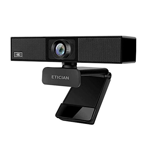 4K Ultra HD Webcam, Plug and Play Built-in Microphone USB Cam, 8MP 116 Degree Wide Angle Web Camera, for Mac Laptop Desktop Computer, YouTube Zoom Video Conference Calls, Live Streaming Android TV