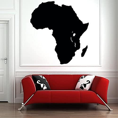 DOUMAISHOP Calcomanía De Vinilo para Pared, Mapa del Continente Africano, Turbante De Niña Africana, Pegatinas De Vinilo, Papel De Pared Am35