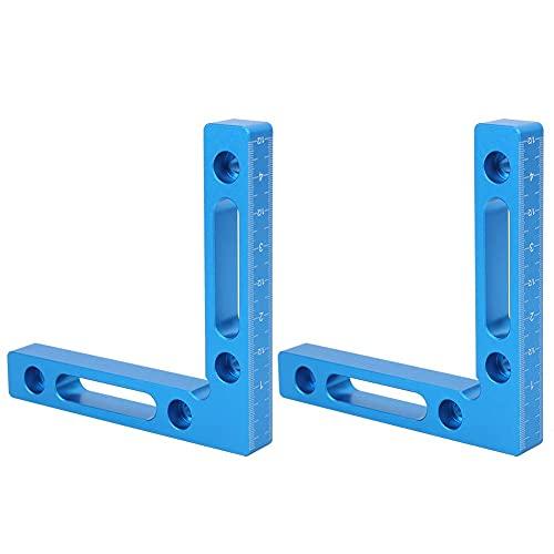 Abrazadera de ángulo recto de cuadrados de posicionamiento de 90 grados para herramientas de carpintero de carpintería, aleación de aluminio