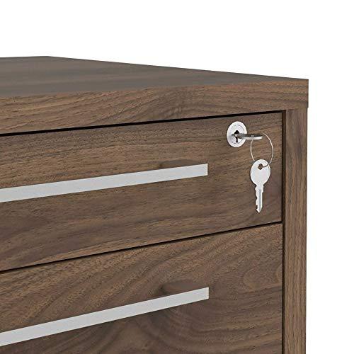 Rollcontainer Prisme Walnuss Dekor Schubladenschrank Büroschrank Bürocontainer