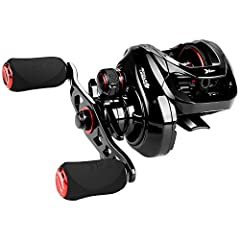 NEW COMPACT DESIGN - KastKing Royale Legend Series has been anglers' favorite baitcasters since 2014. Royale Legend II Baitcasting Reels are totally redesigned for comfort and super performance! It's a compact size low profile baitcaster fishing reel...