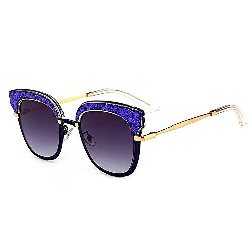 Uiophjkl gespiegelde platte lenzen persoonlijkheid vrouwen zonnebril kat ogen acrylaat frame nylon lens UV bescherming rijden partij vakantie zonnebril geschikt voor vrije tijd en outdoor activiteiten