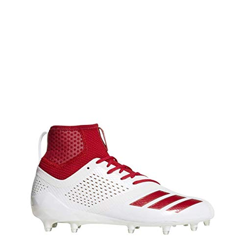 adidas Adizero 5-Star 7.0 Mid Cleat - Men's Football 12.5 White/Red