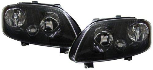 Carparts-Online 16123 Schwarze H7 H1 Scheinwerfer mit Stellmotor