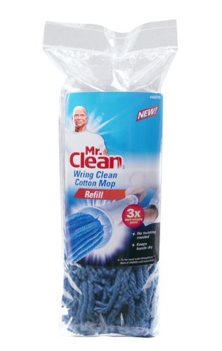 Mr. Clean 446999 Cotton Wring Clean Mop Refill (Pack of 3)