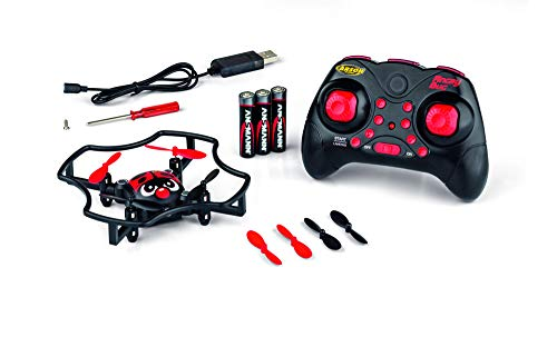 CARSON 500507135 - X4 Quadcopter Angry Bug 2.4G 100% RTF, Ferngesteuerte Flugmodelle, flugfertiges Modell, RC Quadcopter/ Drohne, inkl. Batterien und Fernsteuerung, 100% flugfertig, 2,4 GHz