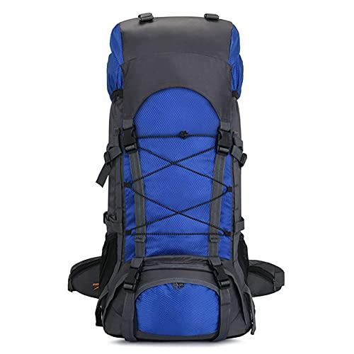 SAHWIN Mochila De Ciclismo Impermeable, Mochila De Bicicleta Plegable, Transpirable Y Liviana, para Deportes Al Aire Libre, Montañismo Que Viaja 60L,Navy Blue