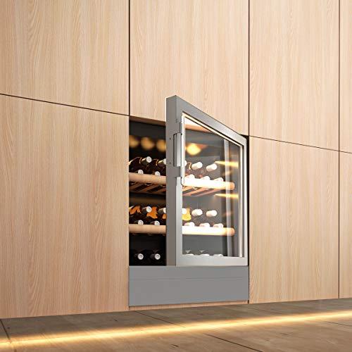 Diadema Italy Vinoteca Integrada Puerta de Vidrio INOX Dem 1