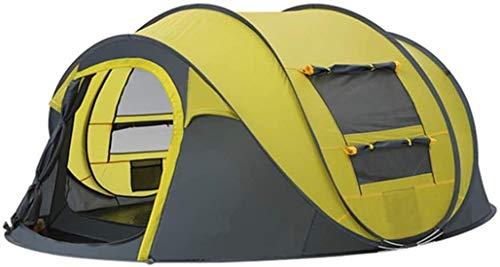 DIMPLEYA Wurfzelt Im Freien Automatische Zelten Wurf Wandern Up Zelt Camping wasserdichte Wasserfeste Familienzelte,gelb
